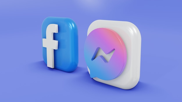 Facebook and massenger logo apps minimalist