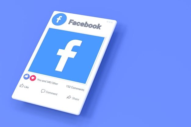 Экран публикации в facebook и реакции
