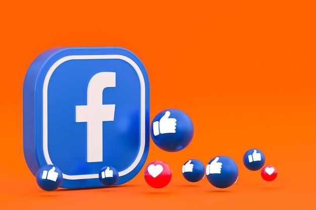 Facebookの反応絵文字レンダリング、facebookアイコンパターンのソーシャルメディアバルーンシンボル