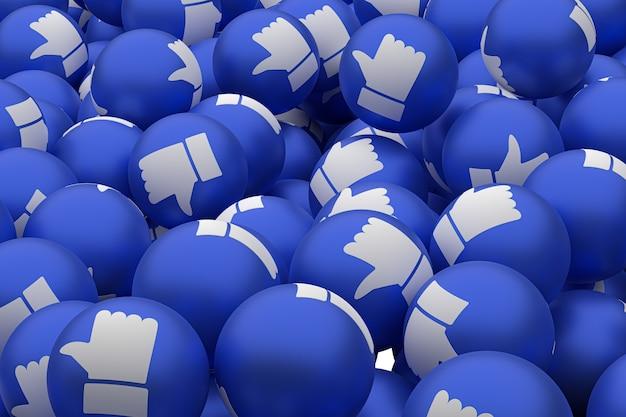 絵文字3 dのようなfacebookの反応は透明な背景、ソーシャルメディアのバルーンシンボルのようなものでレンダリングします