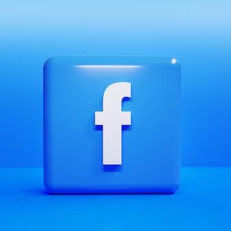 Facebook square image 3d rendering