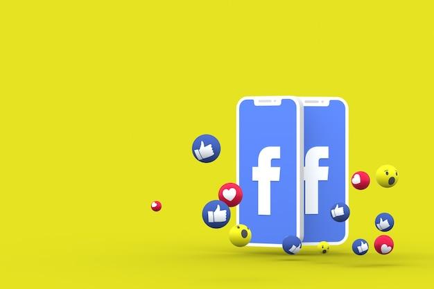 Facebook символ 3d визуализации