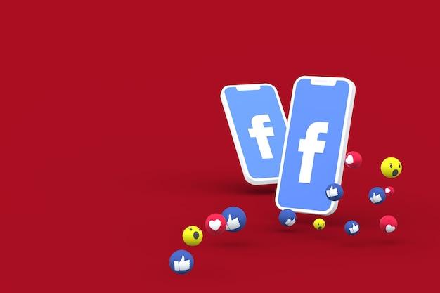Facebookシンボル3dレンダリング