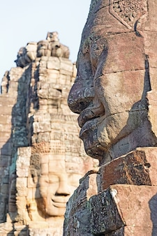 Faces of the bayon temple, siem riep, cambodia