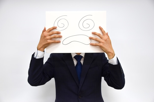 紙でできた人の表情