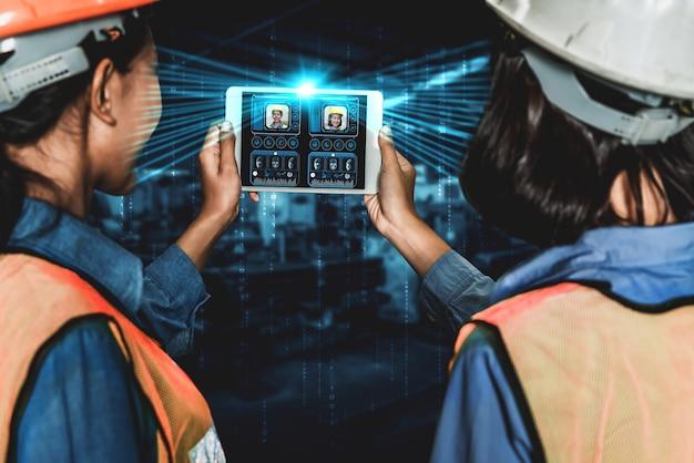 産業労働者が機械制御にアクセスするための顔認識技術
