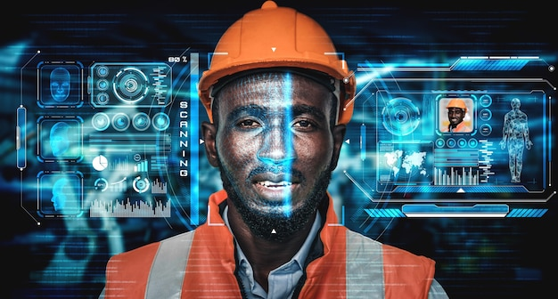 Технология распознавания лиц для промышленных рабочих для доступа к управлению машиной