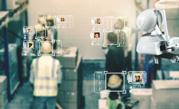 Facial recognition technology for industry worker to access machine control