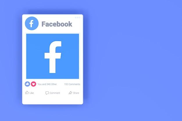 Fackbook 포스트 화면 디자인 및 페이스 북 반응