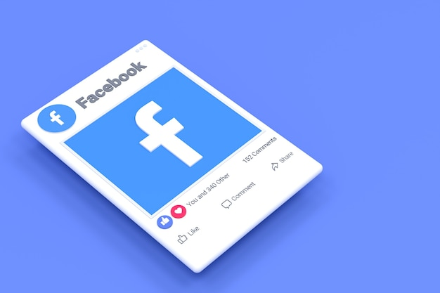 Fackbook post screen design and facebook reactions