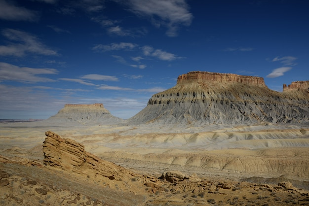 Factory butte, amazing texture of mountain, utah
