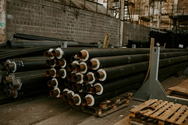 파이프 단열재 생산 공장