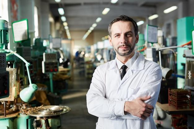 Factory inspector posing