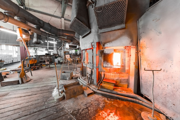 Factory manufacturing of glass production