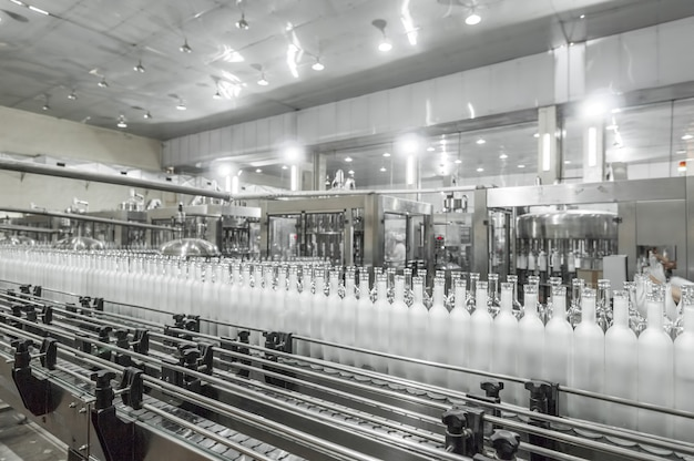 Factory shop for the production of glass bottles and beverage