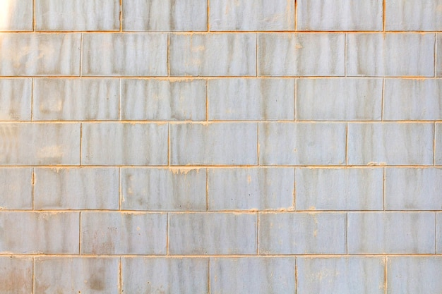 Factory wall made of stone block,wall plant creem color