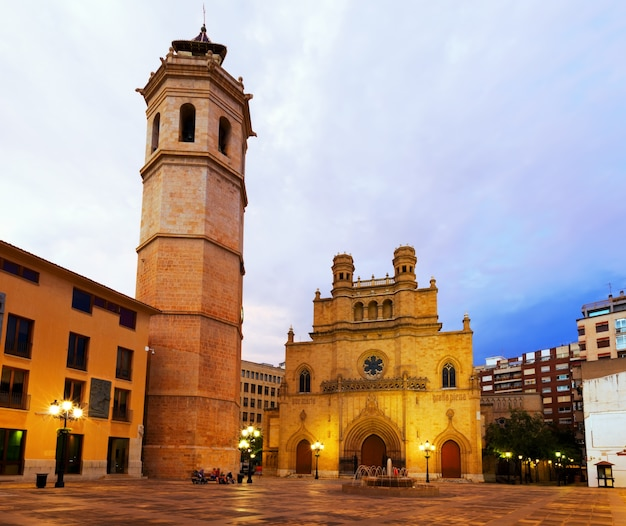 Fadri tower and gothic cathedral. castellon de la plana