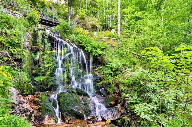 Водопад фахлер в шварцвальде, германия