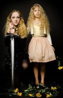 Сказка - царевна и воин