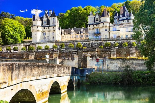 おとぎ話の城ウッセ。フランスのロワール渓谷の美しい城