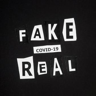 가짜 및 실제 코로나 바이러스 유행성 사실
