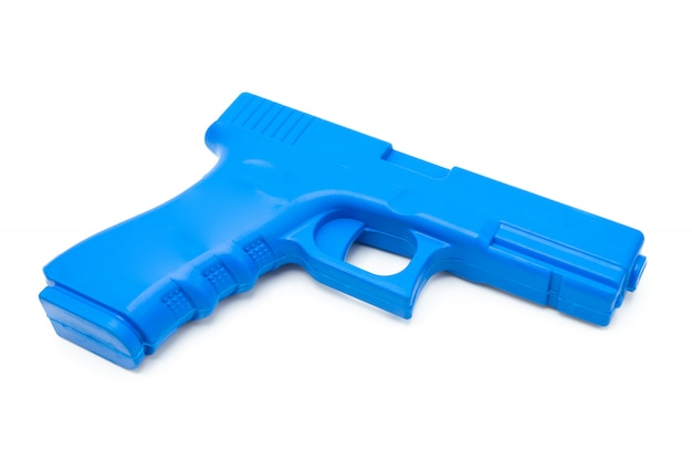 Fake guns made from rubber for the training of police, soldiers and security personnel