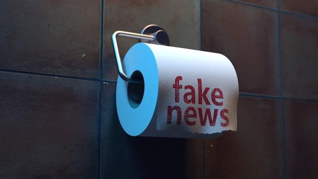 トイレのトイレットペーパーに偽のニュース碑文