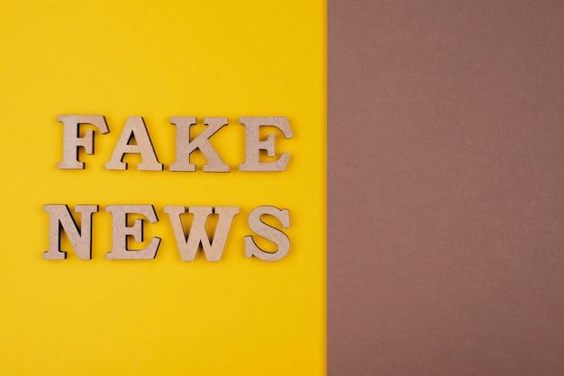 ビューの上の偽または本物のニュースの概念
