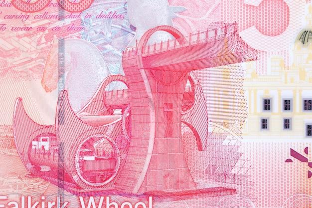 Falkirk wheel from scottish money
