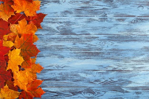 Осенний фон с красными кленовыми листьями