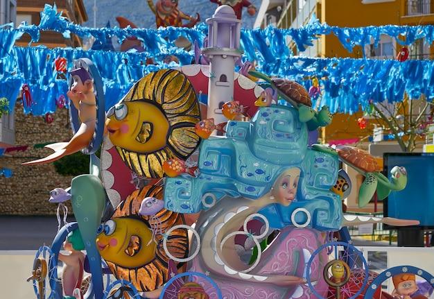 Fallas figures in valencia popular fest spain