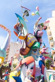 Fallas of valencia in denia popular fest figures