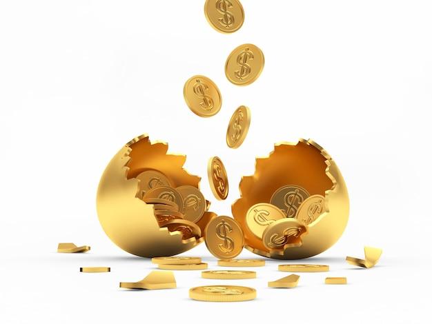 Падающие монеты и разбитое золотое яйцо