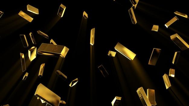 Падающие золотые слитки