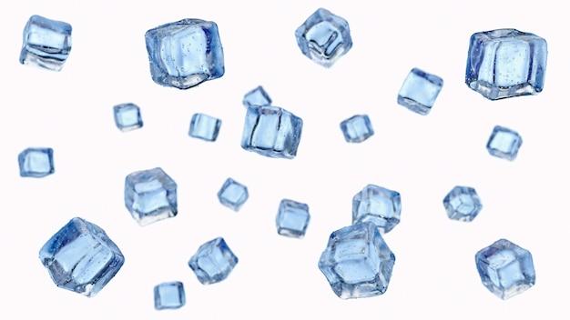 白で隔離の落下氷