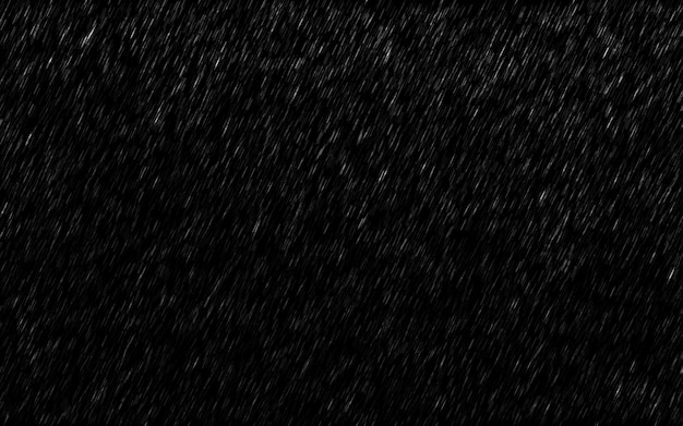 Falling raindrops isolated on dark background.