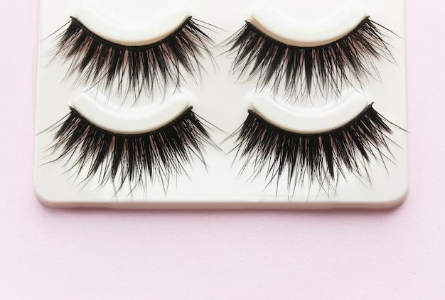 False black lashes in a box
