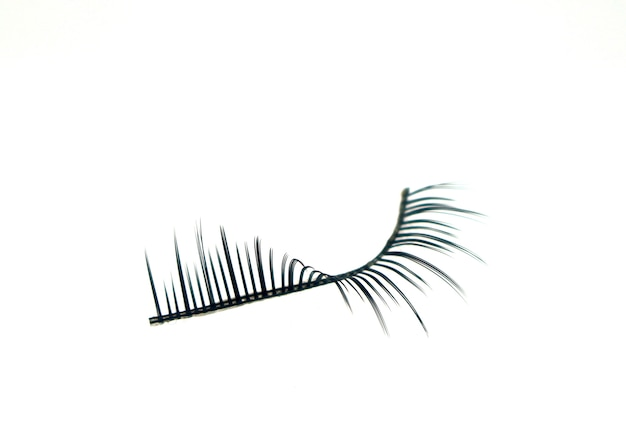 False eyelashes isolated