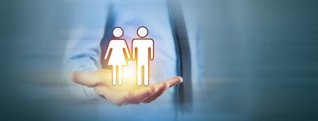 가족 관리 및 보호 보험 개념