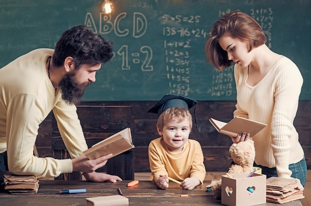 Family cares about education of their son.