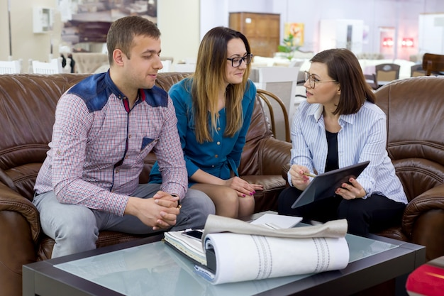 Family choose interior fabrics