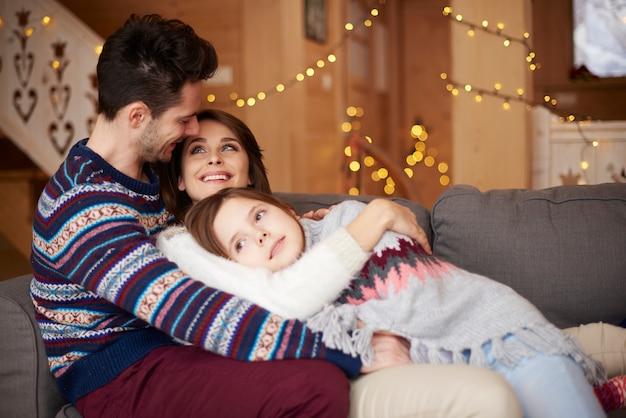 冬休みの家族の日