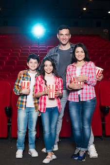 Family of different generations in cinema
