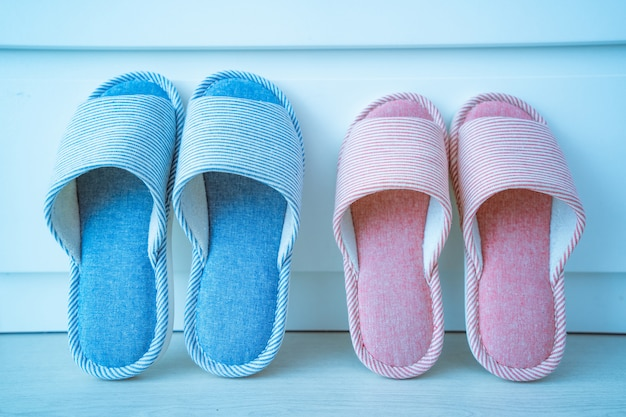 Family home cozy soft comfortable slippers