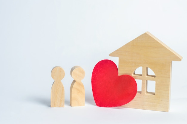 Family and home love concept. house of lovers. affordable housing for young families.