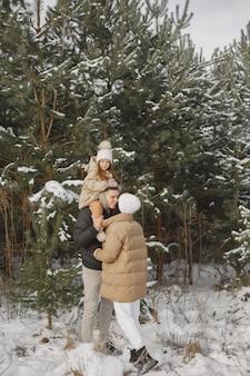 휴가에 니트 겨울 모자 가족