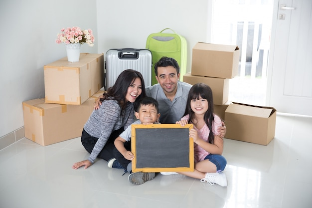 Family moving to a new house