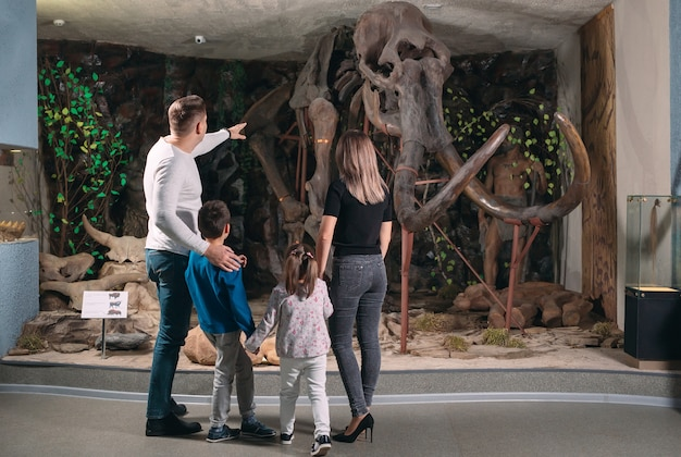 Family in the museum