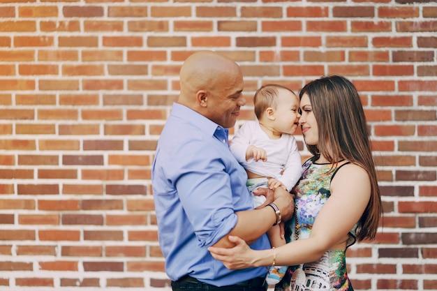 Family near wall