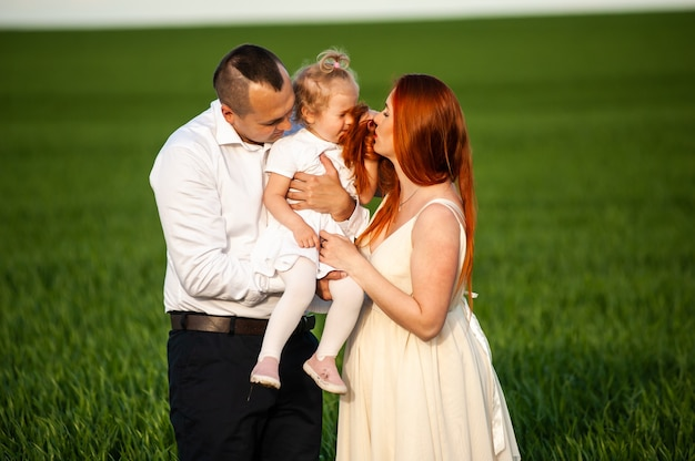 Family portrait outdoor